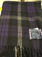 Tweeds of Scotland Wool Rug / Blanket in  Scottish Heritage Tartan / Check