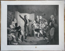 XIXe Rare grande lithographie Rouget de Lisle chante la Marseillaise