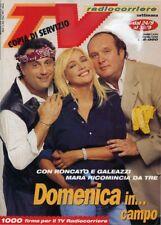 * TV RADIOCORRIERE N°38-39/1995 * MARA VIENIER con RONCATO e GALEAZZI  . . .