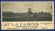 Aula Cabins Blotter Fredericton New Brunswick nb Canada Service Station