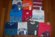 NWT Boys 7 7/8 Huge Crazy 8 TCP Jumping Beans Lot of 10 Long & Short Sleeve Tops