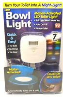 Bowl Motion Activated 7 Color LED Toilet Bowl Light - AS SEEN ON TV - NEW