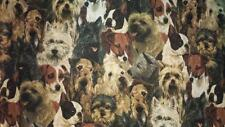 "DOGS, SCOTCH TERRIERS, BOSTON TERRIERS NEW CURTAIN VALANCE FITS 28"" W WINDOW/ROD"