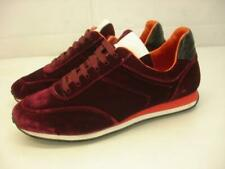 Women's 7.5 37.5 Rag & Bone Dylan Velvet Low-Top Sneakers Shoes Burgundy Lace-Up