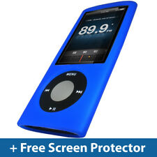 Bleu étui en silicone pour apple ipod nano 5th gen 5G 8gb 16gb housse support