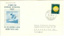Switzerland Olympic Games St. Moritz 1948 Oly. cover with Oly. stamp with FDC