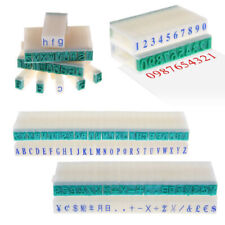 Rubber Stamp Free Combination Seal English Alphabet Letters Numbers Symbol Set