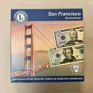 FRN 2004 Series 2004 USA BEP San Francisco Evolutions $20 & $50 Matching Set