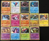 Lot des 13 Cartes Pokemon /147 HOLO Soleil et Lune 3 SL3 Ombres Ardentes FR NEUF