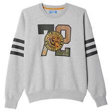 Adidas Originals Mad Plaid Crew Bball Basketball Men's Sweatshirt AY9292 Grey
