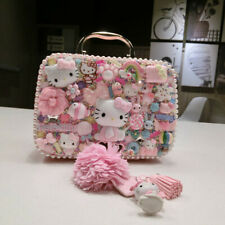 HelloKitty DIY Cosmetic Makeup Handbag Bag Case Clutch Jewelry Storage Box New