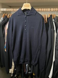 Gucci Long Sleeve Polo With Logo size Medium