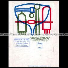 Doc MINIWATT DARIO ★ TUBES ELECTRONIQUES & SEMI-CONDUCTEURS ★ (1968) Lampe Valve