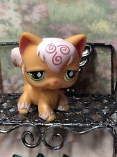 Littlest Pet Shop Long Hair Angora Cat #511 Orange Swirl Authentic