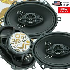 "New Gravity SGR574 6""x8"" /5""x7"" 4-WAY CAR AUDIO SPEAKERS 300W MAX - 1 Pair"