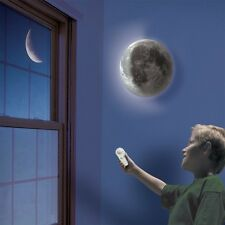 US LED Bedroom Decor Night Light Healing Moon Romantic Wall Lamp +Remote Control