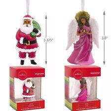 🎄Hallmark Mahogany African American Santa and Angel Christmas Ornaments🎄