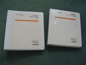 Motorola MOSCAD RTU Service Manual Set 68P02991G90-B VOL I and II - Used