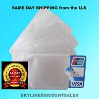 BULK RFID Blocking Credit Card Sleeve Protector Shield WaterProof