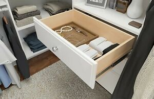 Easy Track RD08ON 8 in. Drawer - White