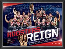 Sydney Roosters 2019 Premiers Back to Back NRL Team Signed Official Print Framed