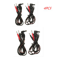 4pcs Standard Electrode Lead Wires Standard Pin Connection For Tens Ems Machines