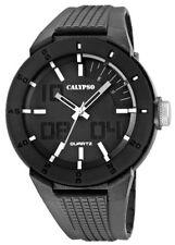 Calypso Uhr by Festina grau schwarz K5629/1 10 ATM Armbanduhr