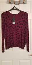George Plum Cheetah Pring Cardigan Size 20