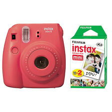 Fuji Instax Mini 8 Fujifilm Instant Film Camera Rasberry+ 20 Sheets Instant Film