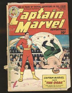 Captain Marvel Adventures # 114 Poor Cond. spine split