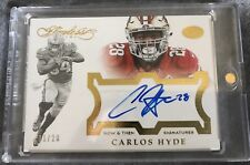 2016 Flawless CARLOS HYDE /20 AUTO Now & Then 49ers OSU Gold SP On-Card