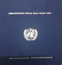 United Nations 1976 Itala 76 Commemorative Folder with Cancelled Stamps