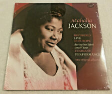 "MAHALIA JACKSON:""Recorded Live in Europe"":NEW 2 LP SET: REMASTER Shrinkwrap Tear"