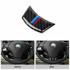 Genuine Carbon Fiber Logo Car Steering Wheel Sticker For e60 e61 5 Series 04-10