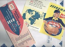 SAS Airlines 50s lot of 2 Itinerary leaflet + European Travel planner slide card