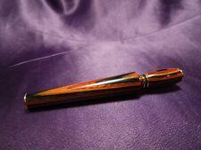 Vintage Unbranded Faux Wood Perfume Cologne Vial