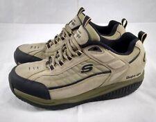 Skechers SHAPE UPS 5200 da uomo Pebble Marroni in Pelle Da Passeggio Sneaker TONIFICANTE 10.5