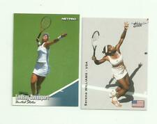 Serena Williams & Lindsay Davenpot 2 Tennis Card Lot - Netpro
