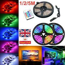 1M-5M LED Strip Lights USB RGB Color 5050 Light TV Backlight with Remote Control