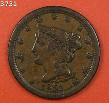 "1851 Braided Hair Half Cent ""VF/XF"" *Free S/H After 1st Item*"