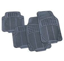 4 x PIECE HEAVY DUTY UNIVERSAL BLACK RUBBER CAR MAT SET NON SLIP GRIP VAN MATS