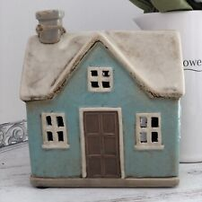 Ceramic Duck Egg Blue Pottery House Country Cottage Ornament  Tea Light Holder