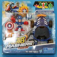 MARVEL SUPER HERO MASHERS MICROS VEHICLES SERIES 1 CAPTAIN AMERICA RACER