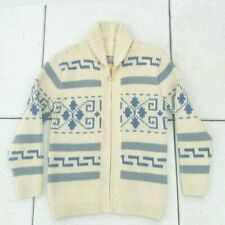 Vtg 60s 70s PENDLETON BIG LEBOWSKI DUDE Wool Sweater Zip Up Cardigan Workwea