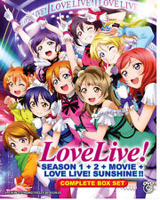 Love Live! School Idol Project Season 1&2 + Movie+Love Live Sunshine!! Anime DVD