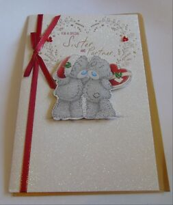 Me To You Xmas Cards for Sister including 3d Cards
