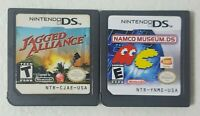 Lot of 2 Nintendo DS Games - Namco Museum & Jagged Alliance - Cartridges Only