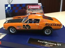 Carrera 30722 Digital & Analog Ford Mustang GT #49 1/32 Scale Slot Car w/Lights
