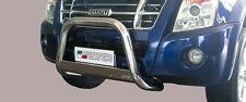 PROTEZIONE ANTERIORE MEDIUM BULL BAR OMOLOG. INOX D.63 PER ISUZU D-MAX '07/'12