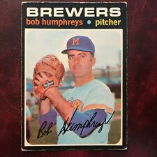 1971 O-Pee-Chee OPC Set BOB HUMPHREYS #236 MILWAUKEE BREWERS - VG-EX